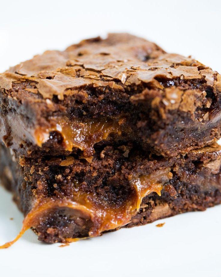 EASY Chocolate Fudge Caramel Brownies - I Heart Naptime