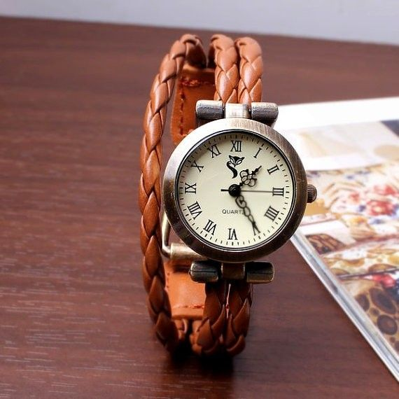 fashion  thin strips of leather  wrap strap retro watch for a big sale in bygoods.com