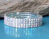 Rhinestone Stretch Bracelet, wedding bracelet