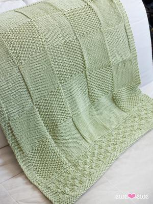 Charles + Chelsea PDF Baby Blanket Knitting Pattern #babyblanket