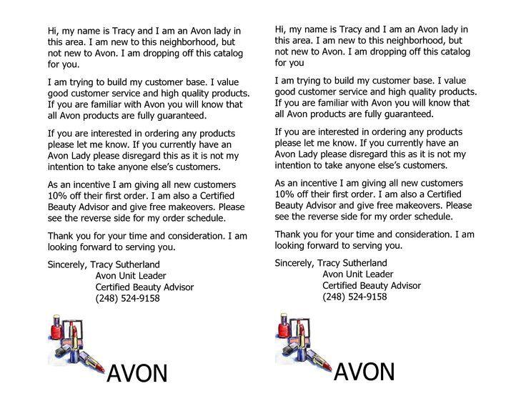 Image Result For Avon Flyers Templates Avon Pinterest Avon