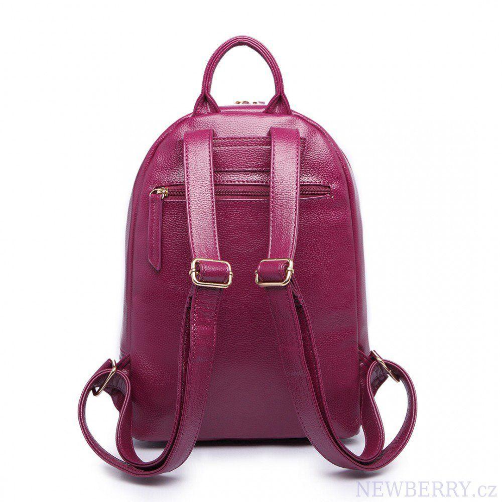 f7c97b61d7 Vínově červený dámský elegantní batoh Miss Lulu   NEWBERRY - velkoobchod  dámské kabelky a pánské tašky