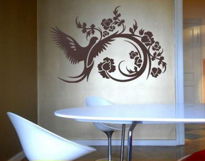 Wohnzimmer Tattoo ~ Schwungvoll und modern ist dieses wandtattoo mit taube und