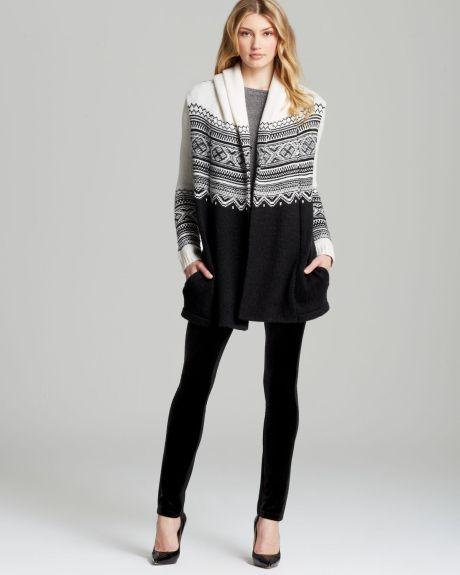 Women's Black Hooded Fair Isle Sweater | Fair isles, Beautiful ...