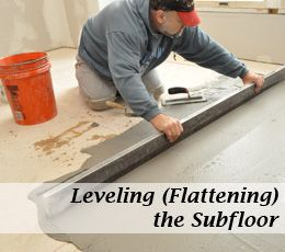 Level A Subfloor Before Laying Tile