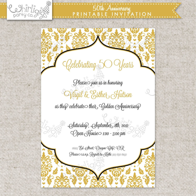 50th Anniversary Invite Printable | 50th Celebration | Pinterest