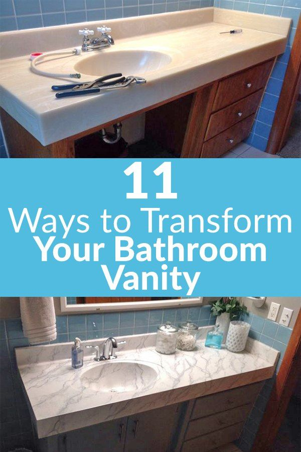11 ways to transform your bathroom vanity without on replacement countertops for bathroom vanity id=30609