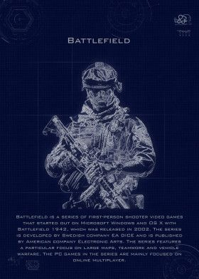 battlefield blueprint | Displate thumbnail