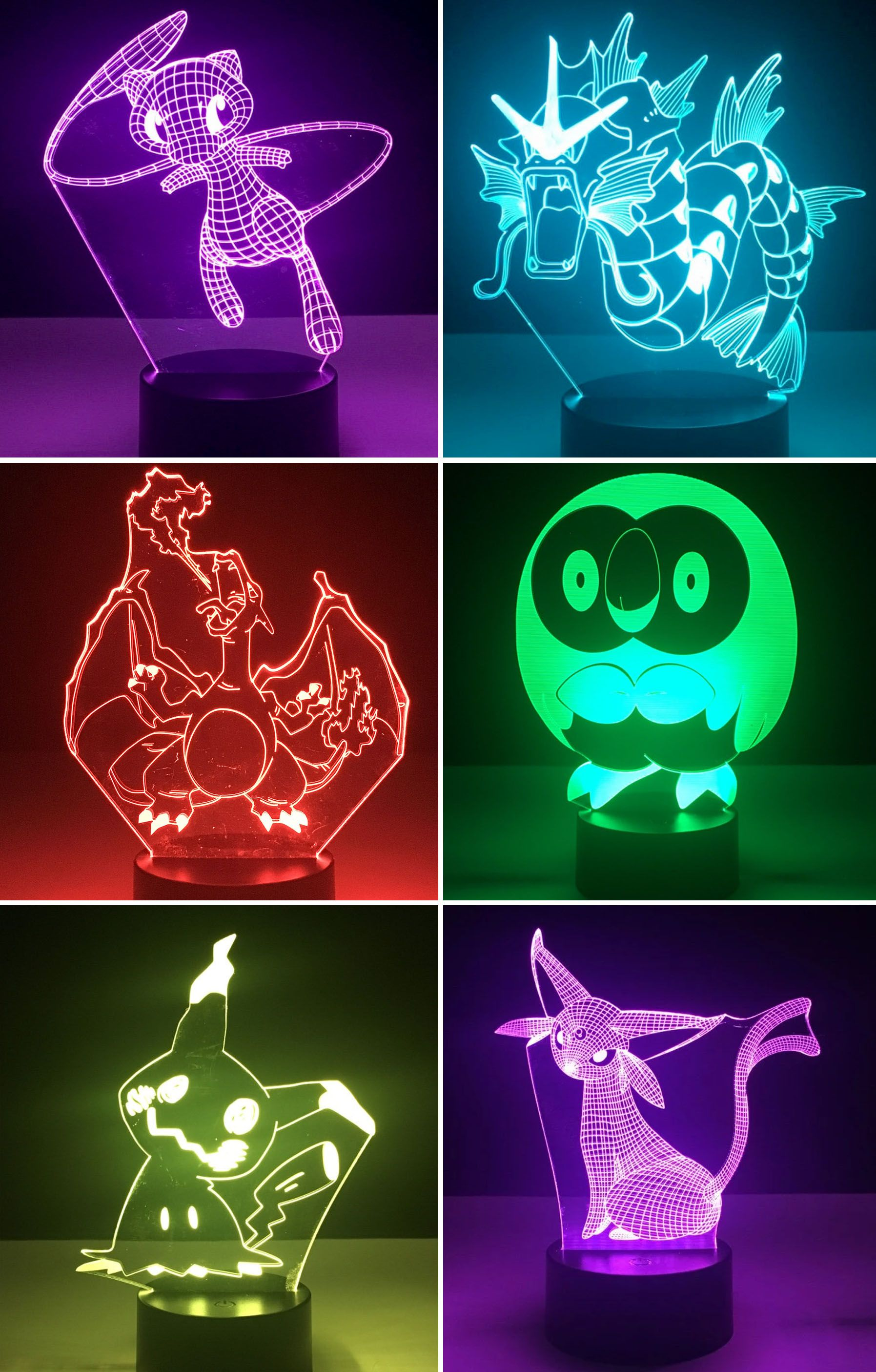Pokemon Led Lamps Pokemon Pokemon Gifts Pokemon Diy