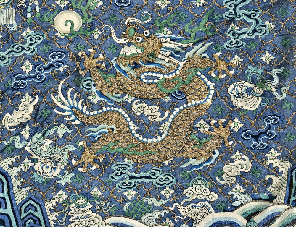 A Dragon Badge Qing Dynasty 1870s