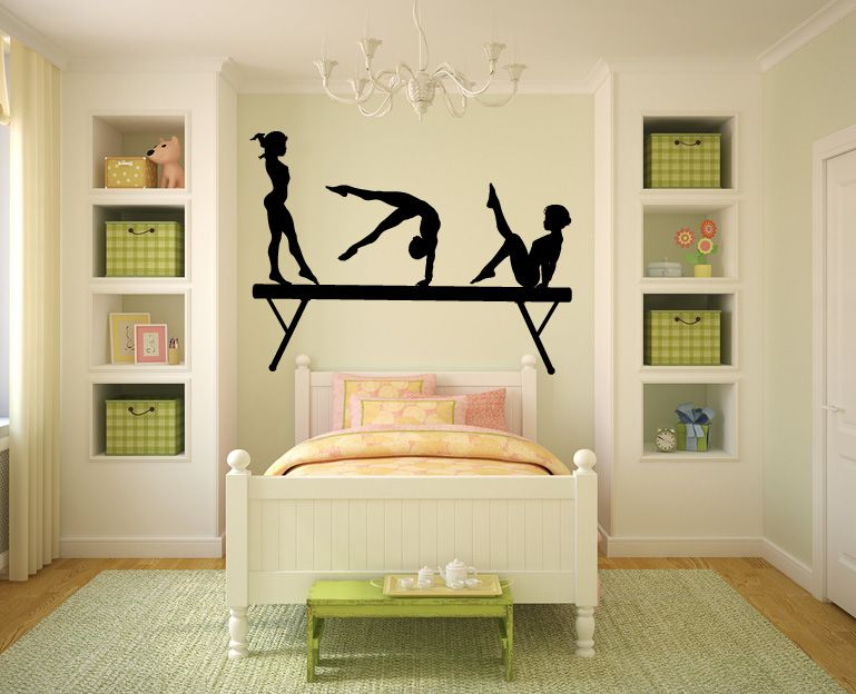 Gymnast Wall Decal Gymnast Vinyl Wall Decal Sticker Master - Custom vinyl wall decals for master bedroom