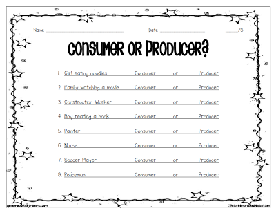 Collection Producer And Consumer Worksheet Photos - Studioxcess