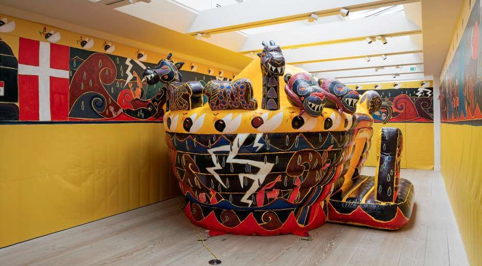 Alexander Tovborg has created a jumping board disguised as Noah's Ark.  It alludes to the event publication of society in general and Christianity in particular.  -