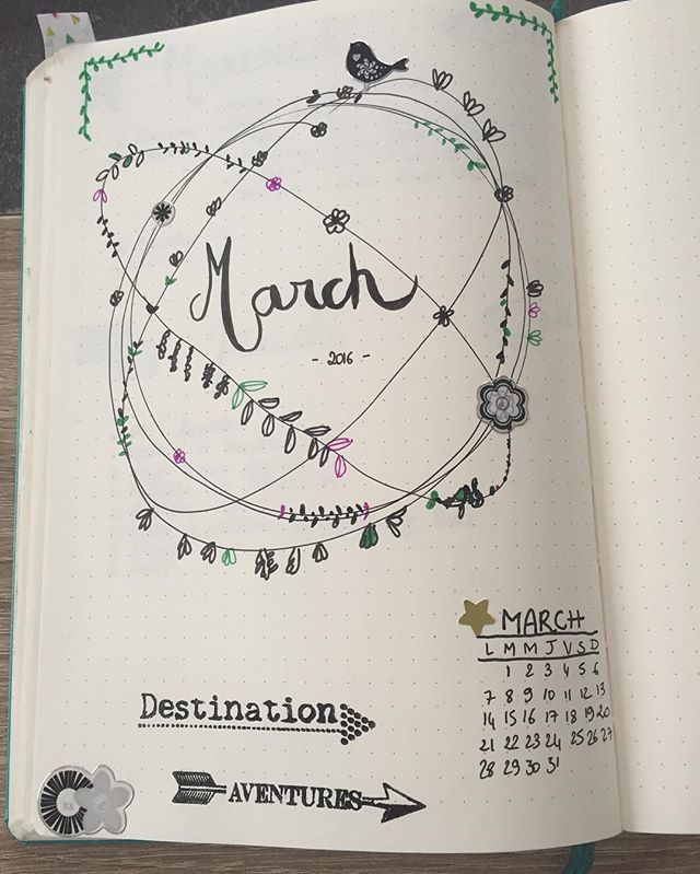 March, i am so ready for you!! Let's start preping an amazing new month! Have fun!  #bulletjournal #bujo #bulletjournaling #march #springiscoming #doodle #plannerpeace