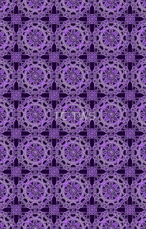 Crossed Floral Lace in Purple