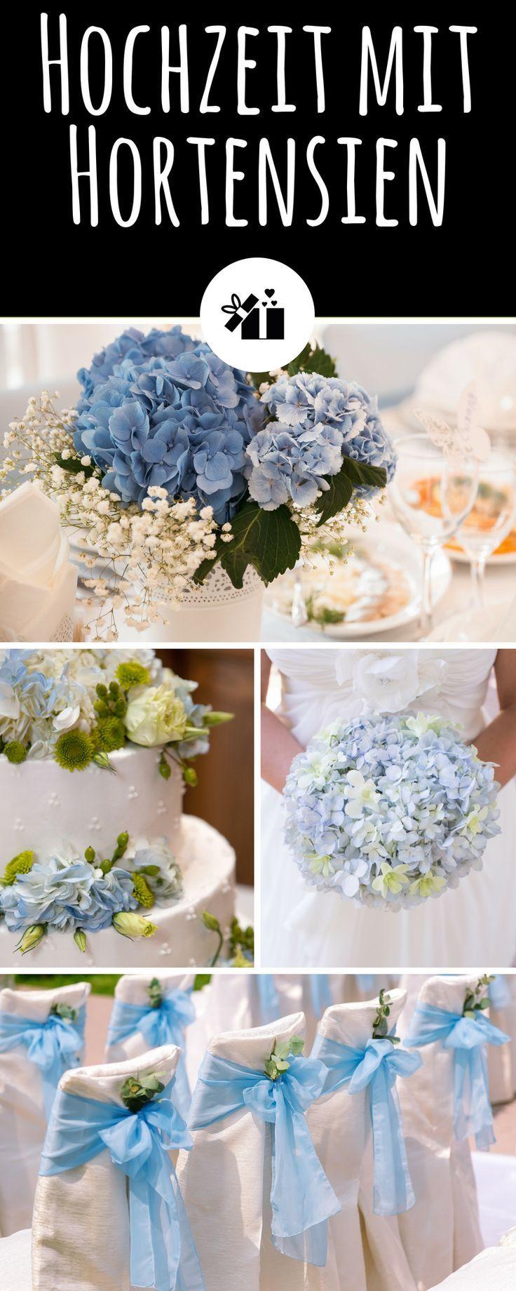Wedding with hydrangeas – Hochzeit – Blumen