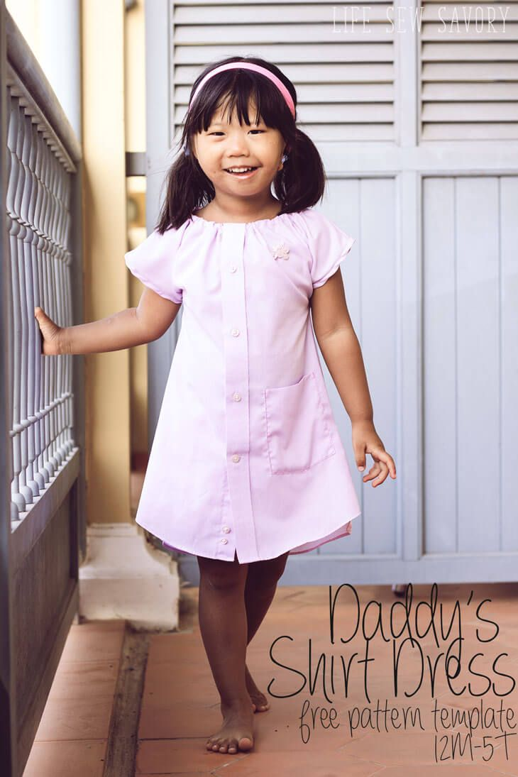Shirt Dress with Free Pattern from Life Sew Savory | Sewing for ...