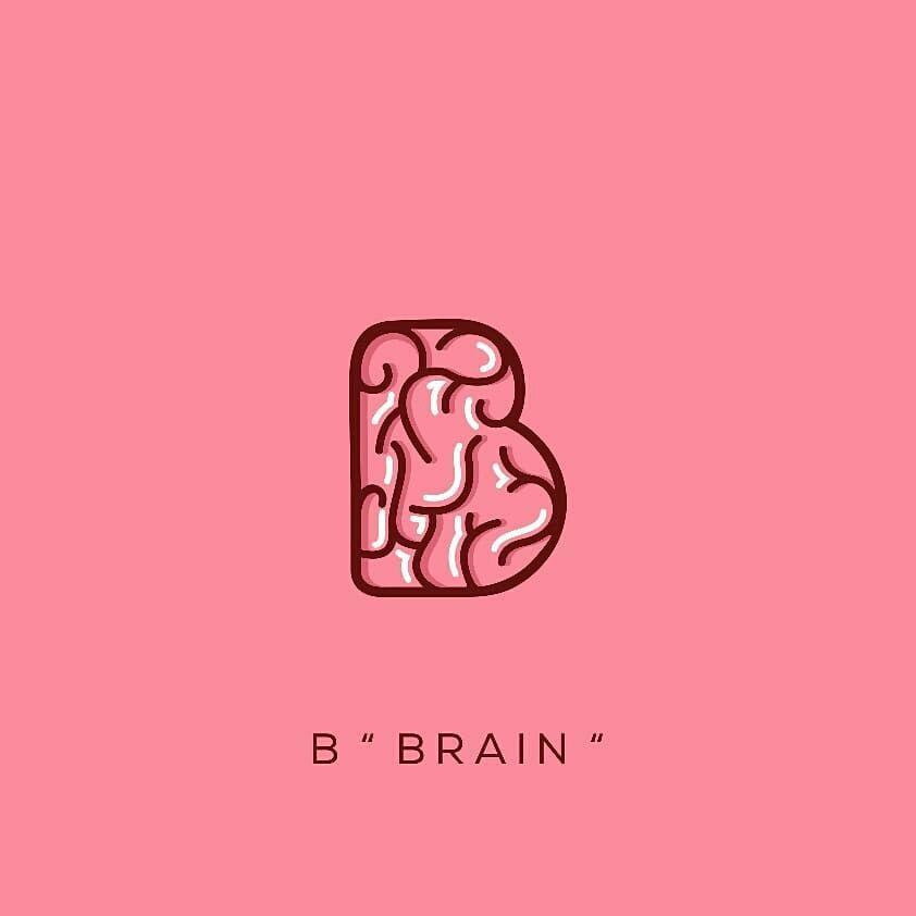 B Brain Creative Logo Best Trending Graphic Work 2019 Colors