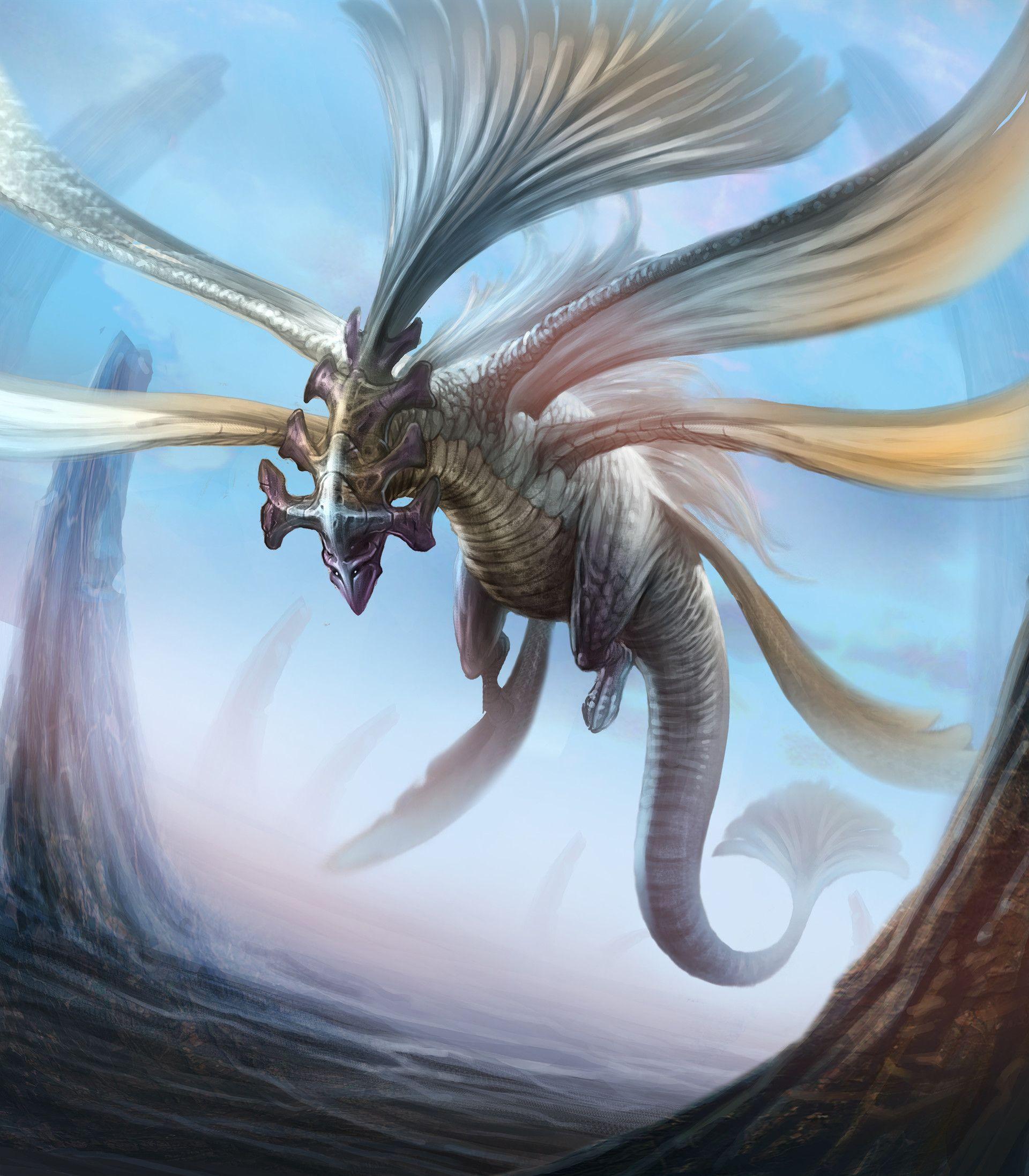 картинки ветреного дракона чрезвычайно красивой фигурой