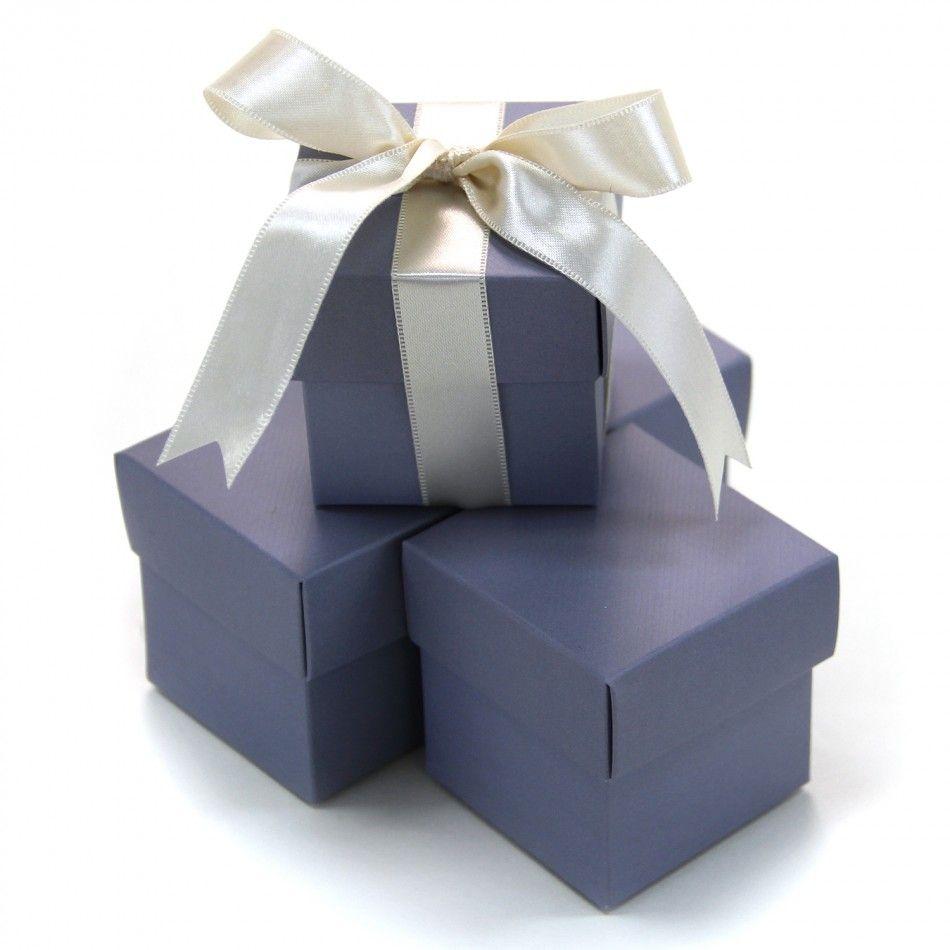 2 pc favor boxes 2x2x2 grey set of 10 403503 2 piece