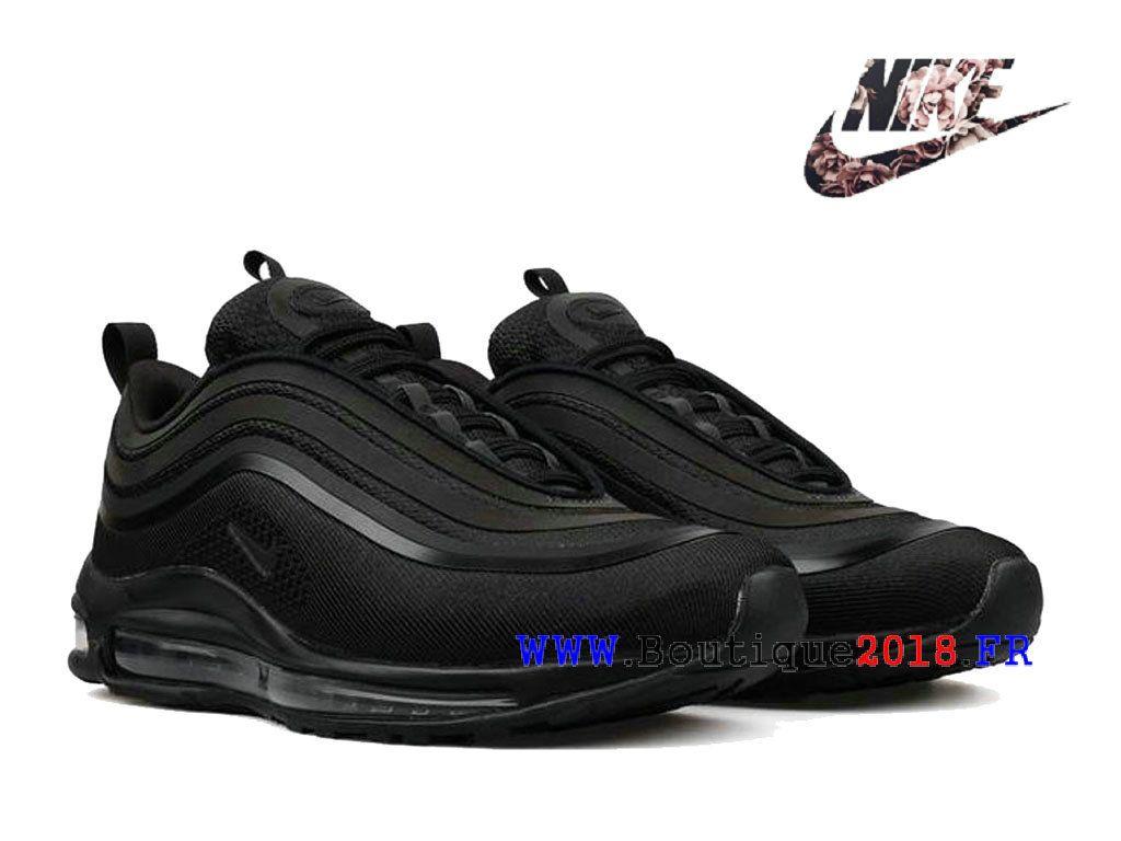 Nike Air Max 97 Coussin d´air sportif Chaussures Pas Cher Homme Noir  918356 002 759c9e828533