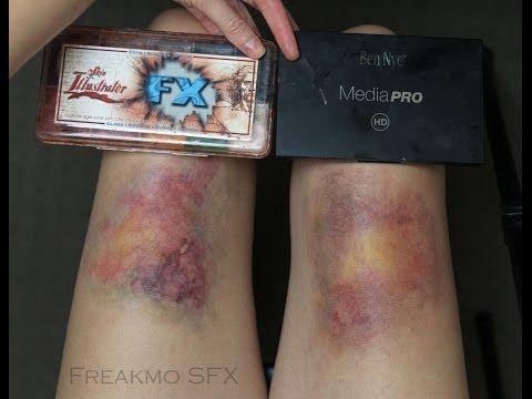 Bruise Makeup: Comparing Skin Illustrator FX with Ben Nye Ultimate ...