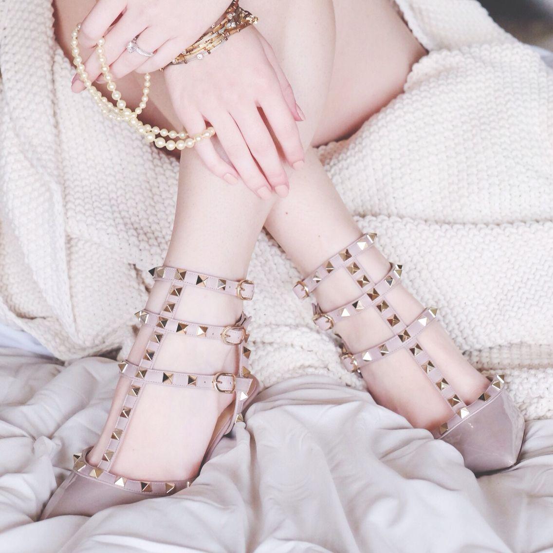 My Wedding Shoes Valentino Nude Rockstud Kitten Heel And Grandmothers Pearls