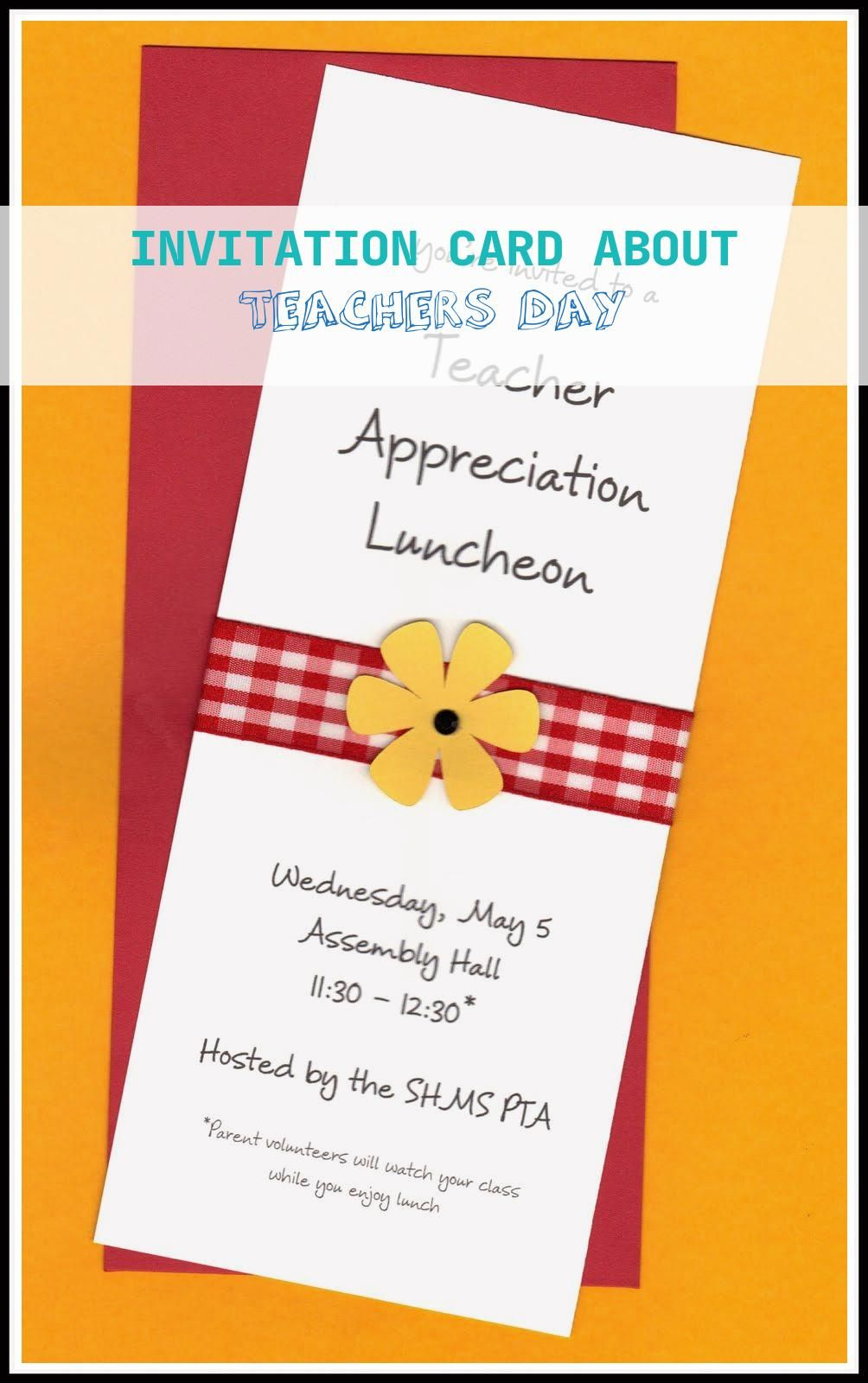 15 Topmost Invitation Card About Teachers Day Invitation Card Sample Potluck Invitation Invitations