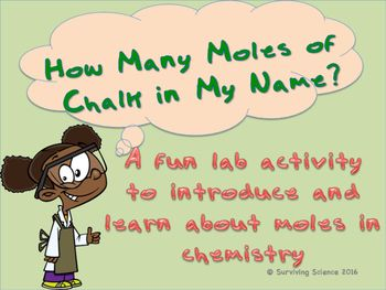 Moles Lab Activity How Many Moles Of Chalk Are In My Name Lab Activities Teacher Preparation Chemistry Classroom Fun with moles worksheet answers