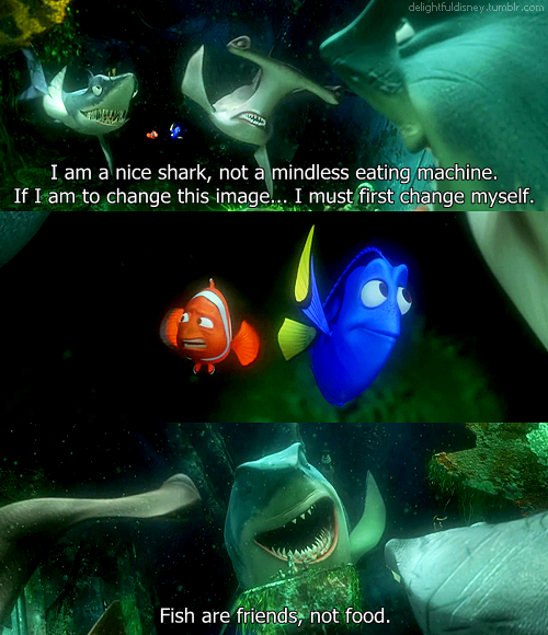 Fish Are Friends Not Food Finding Nemo Stuff Disney Finding