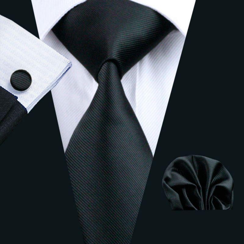 Hankie Pocket Square Handkerchief Formal BLACK UK Made