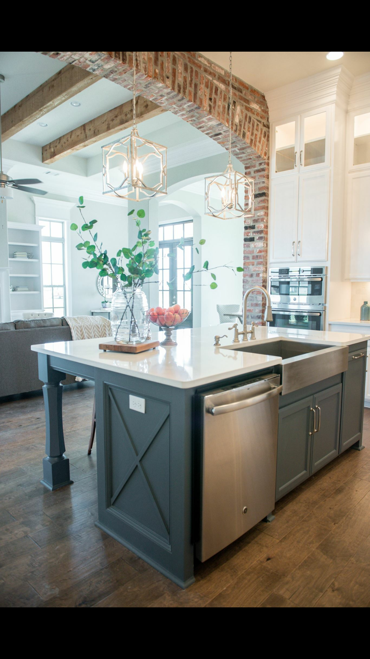 The Wood Beams And Brickwork Modern Kitchen Design Modern Kitchen Earthy Home Decor