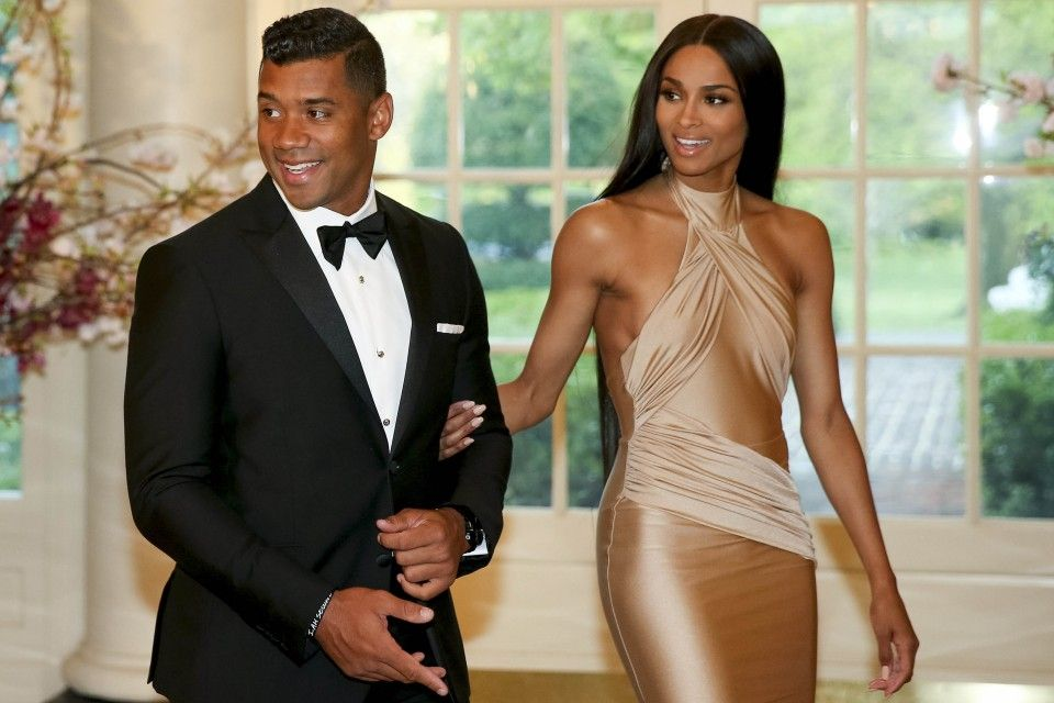 Ciara and Russell Wilson Make Red Carpet Debut as Married