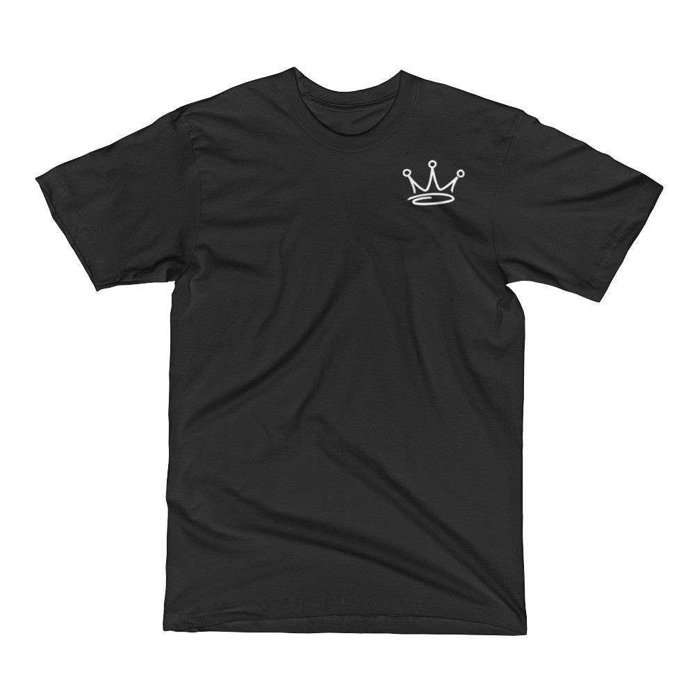 Team Royalty KING Tee - (Front & Back, White Print)