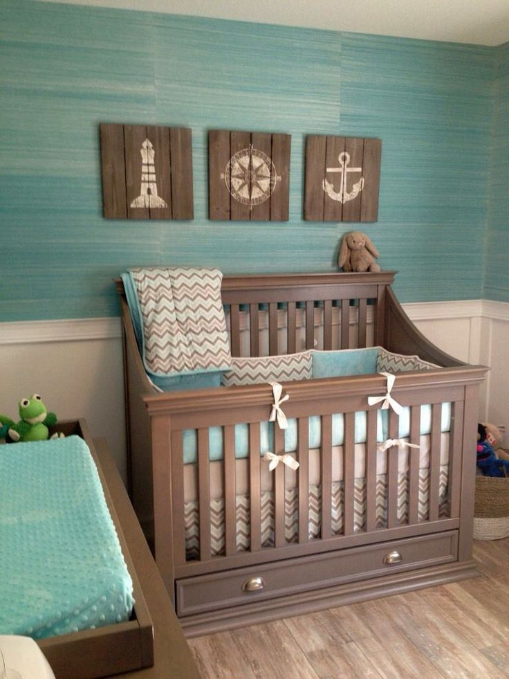 Create A Gender Neutral Nursery With Browns And Turquoise Adding Flair Of Sea Related Items Will Give This E Great Nautical Theme