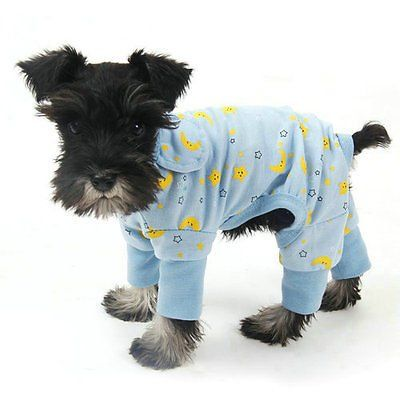 Pet Dog Clothes Jumpsuit Soft Cozy Puppy Dog Shirt Costumes Cat Pajamas Apparel (Large, Blue) ** Want to know more, click on the image.