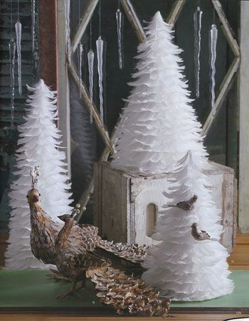 beautiful white feather christmas trees set of 3 available from nova68com modern design