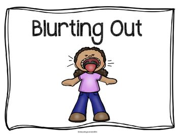 blurting out is a free social story to help students learn