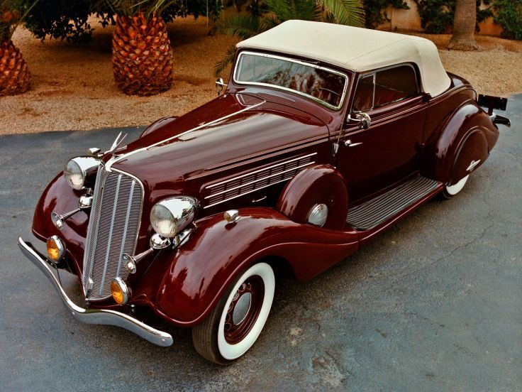 1935 Hudson Deluxe Eight Convertible luxury retro wallpaper background