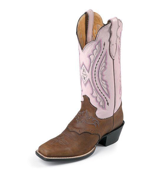 75c12cbb105b Coffee   Pink Luscious Punchy Cowboy Boot - Women. 50% off Justin Boots!!