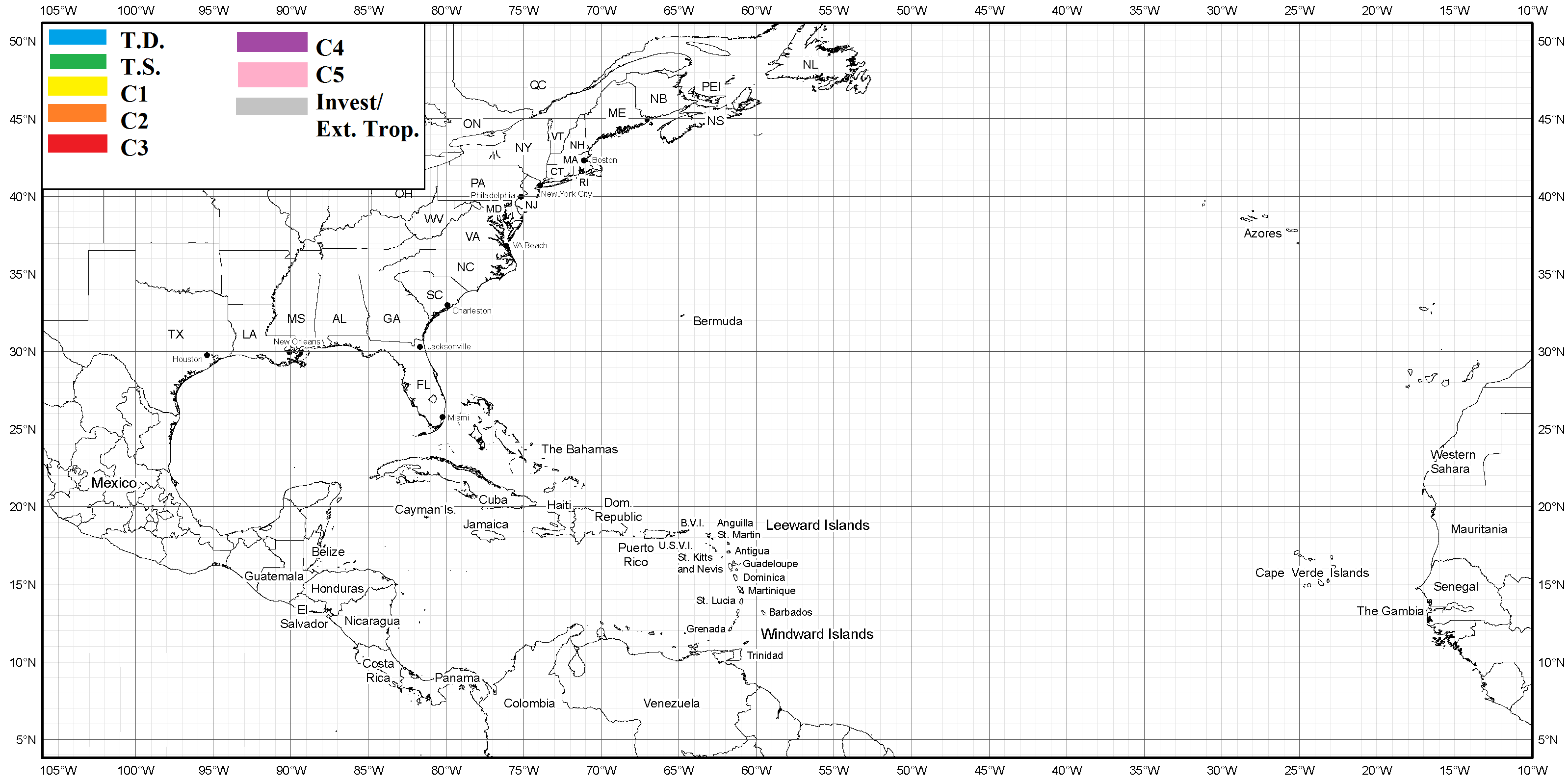 Hurricane tracking map Hurricane tracking map, Map