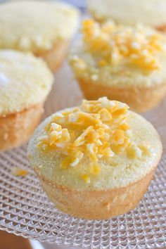 Soft and fluffy Filipino sponge cake (mamon) - popular to have for breakfasts or snacks.