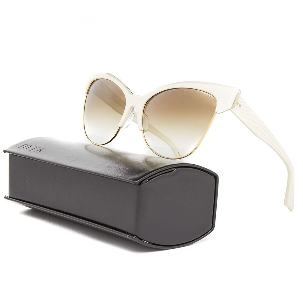 75829287e88 Details about Dita Temptation Sunglasses 22029C Cream 18K Gold ...