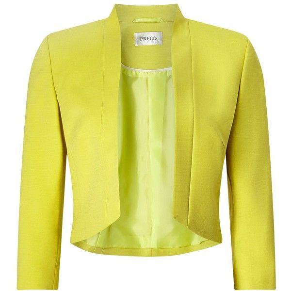 Precis Petite Jane Cropped Jacket , Mid Yellow (9.570 RUB ...