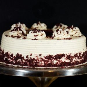 Light chocolate cake with cream cheese frosting