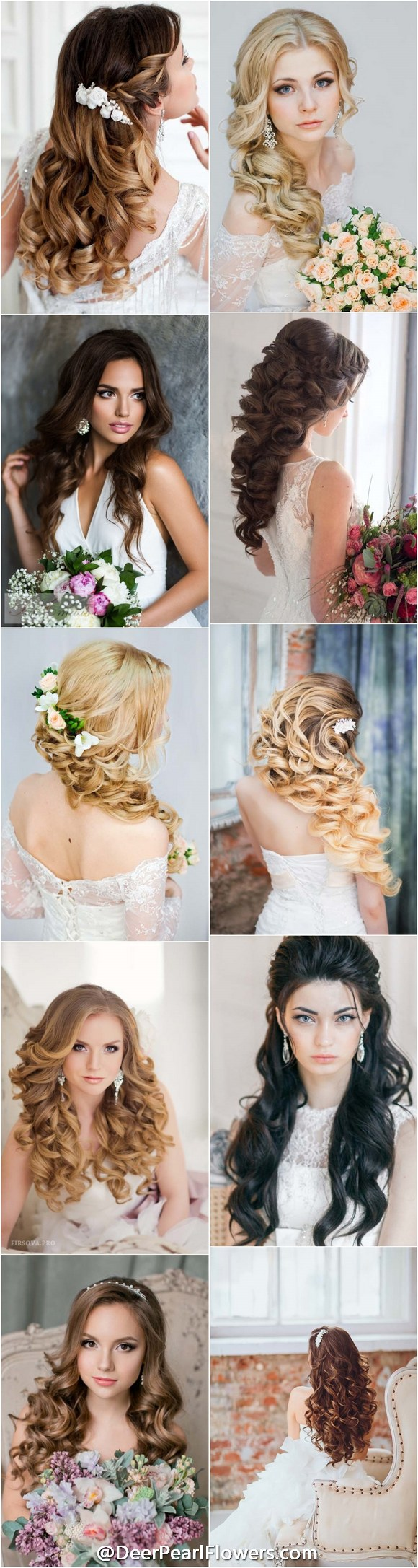 Top long wedding hairstyles and updos for peinados pinterest