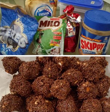 Resep Bola Bola Coklat Lapis Meses Coklat Cemilan Kue Kering