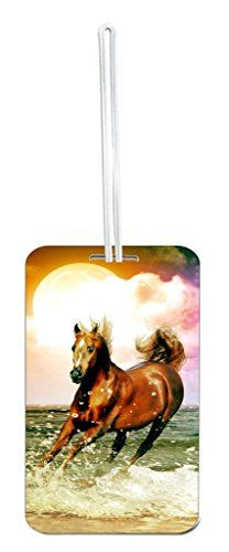Horse in the Waves  Rosie Parker Inc TM Standard Sized Hard Plastic Luggage Identifier Tag 275 x 4 x 090 * Details can be found by clicking on the image.Note:It is affiliate link to Amazon.