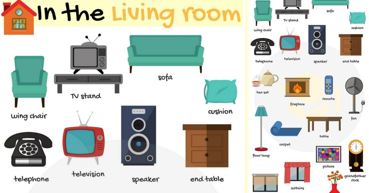 Living Room Furniture Names Of Living Room Objects 7 E S L Living Room Objects Stylish Living Room Living Room Clipart