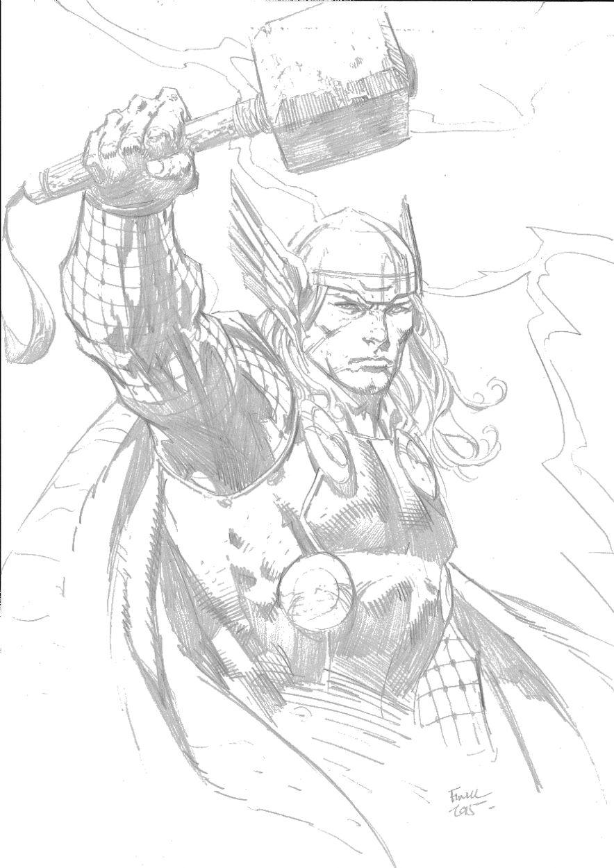 Thor david finch comic art marvel drawings comic art